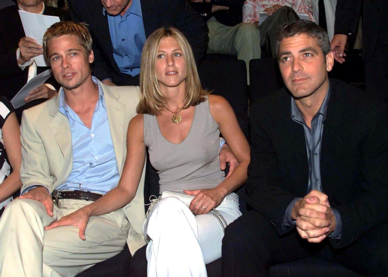 Jennifer Aniston Brad Pitt George Clooney