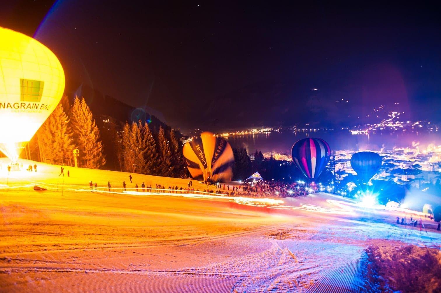 <p><strong>Österreich: Zell am See-Kaprun – romantische Heißluftballon-Fahrt bei Nacht</strong></p>