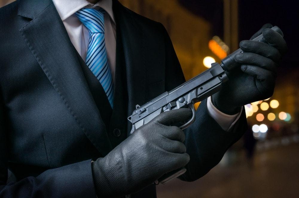 Auftragskiller Auftragsmörder Pistole
