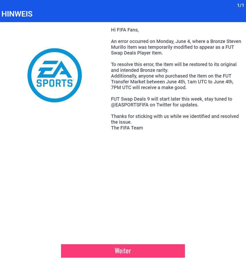 EA Sports Web App