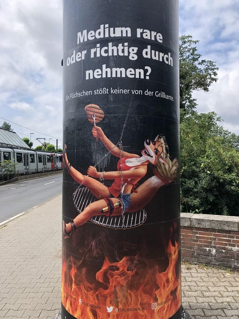 Litfassäule Werbung Sexismus Füchsen Düsseldorf