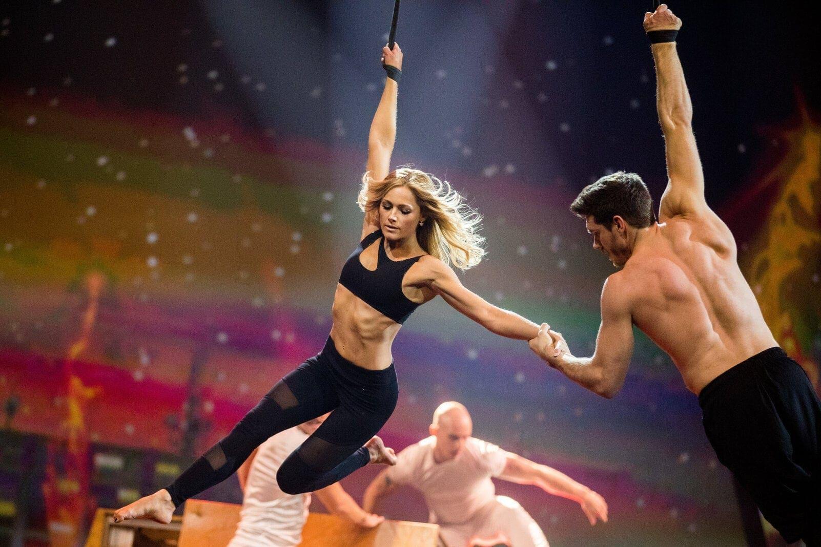 Helene Fischer mit Thomas Seitel Show Akrobat