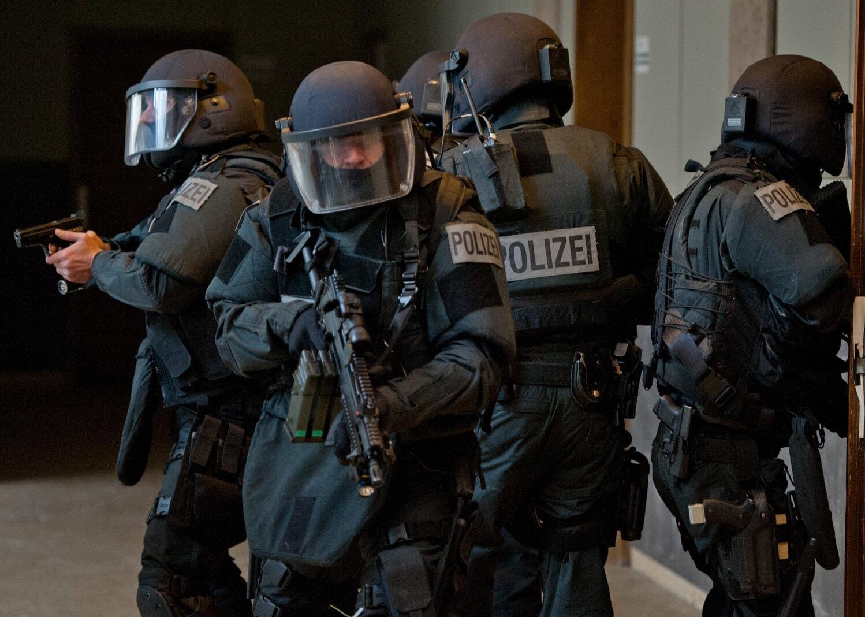 SEK der Polizei Frankfurt Übung