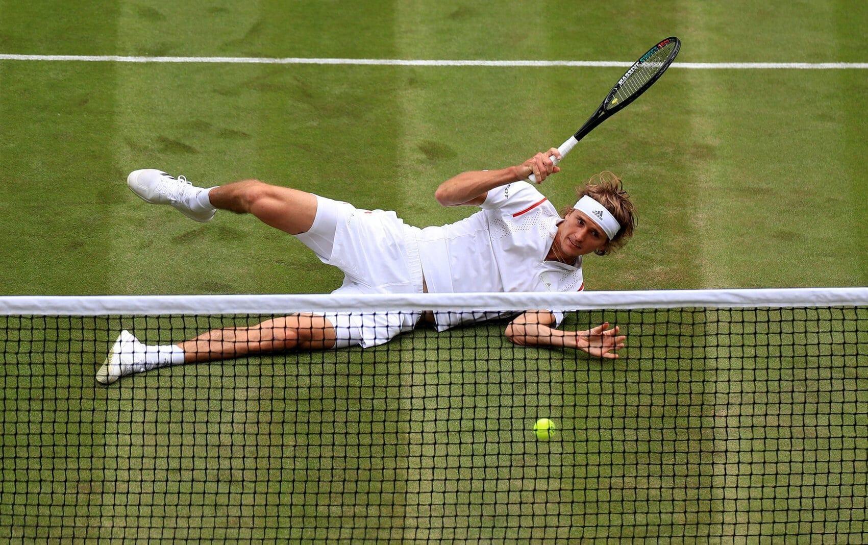 Alexander Zverev auf dem rasen von Wimbledon