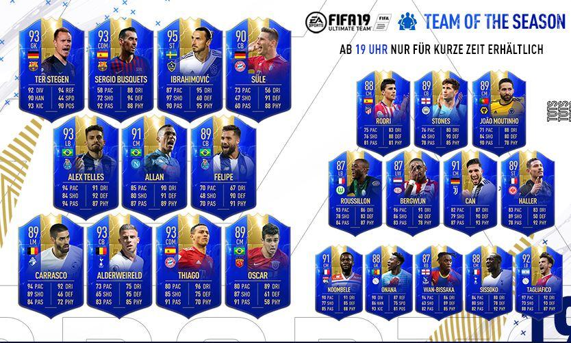 Team of the Season FIFA 19 Community TOTS