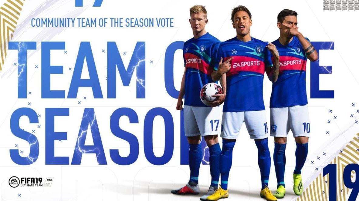 Team of the Season FIFA 19 De Bruyne Neymar Dybala