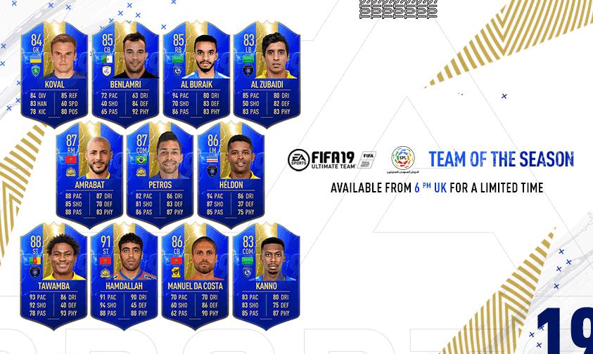 Team of the Season FIFA 19 SPL