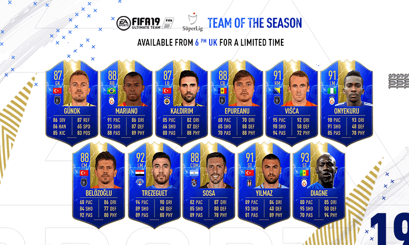 Team of the Season FIFA 19 Super Lig