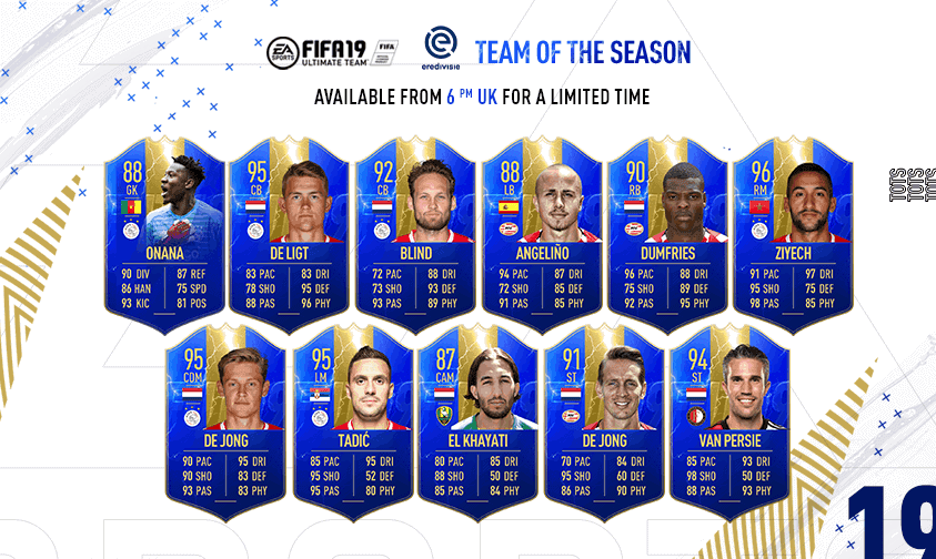 Team of the Season FIFA 19 Team Eredivisie