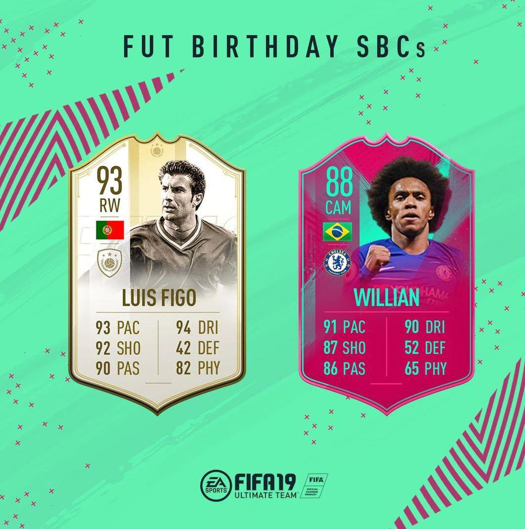 FUT BirthdayFUT Birthday FIFA 19 Luis Figo Willian