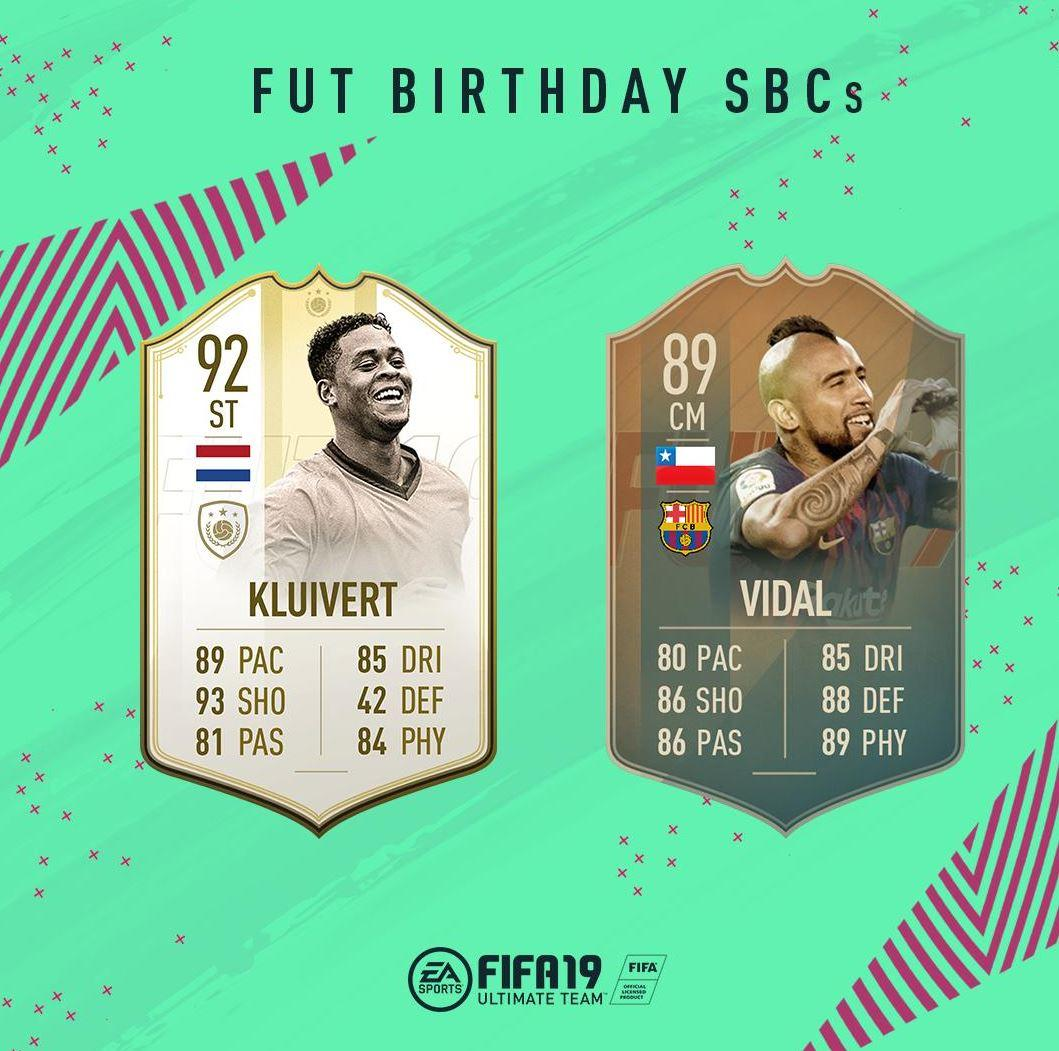 FUT Birthday FIFA 19 SBCs
