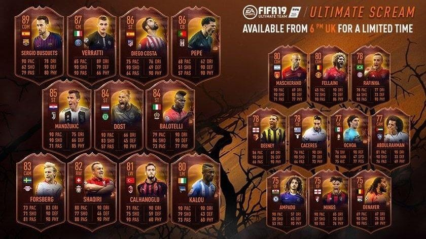 FIFA 19 Scream Shift Karten