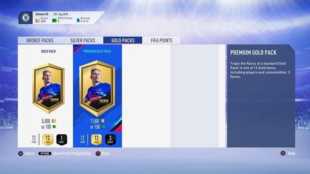 FIFA 19 Packs Belohnungen