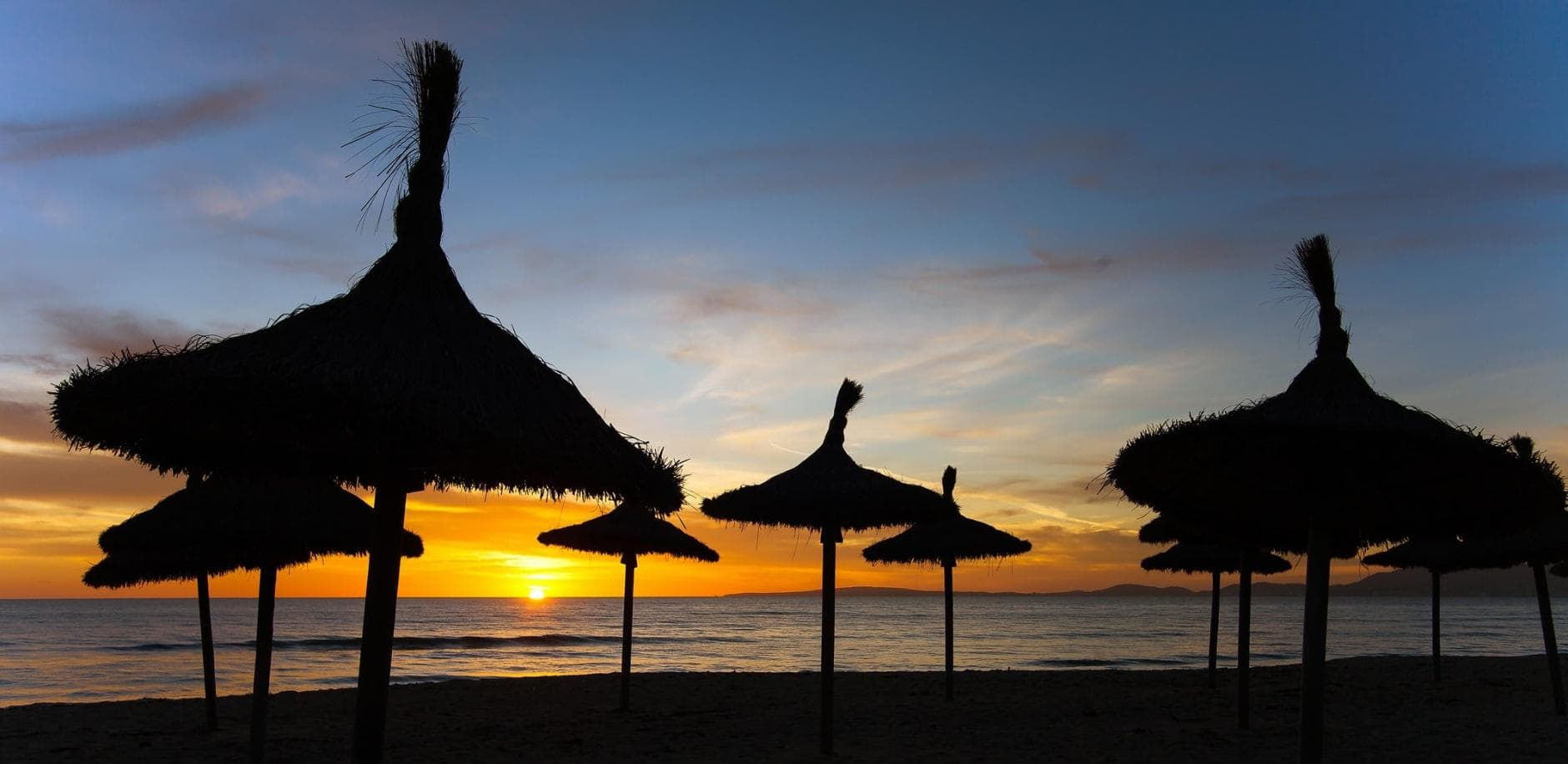 Mallorca Ballermann Strand Meer Sonnenuntergang