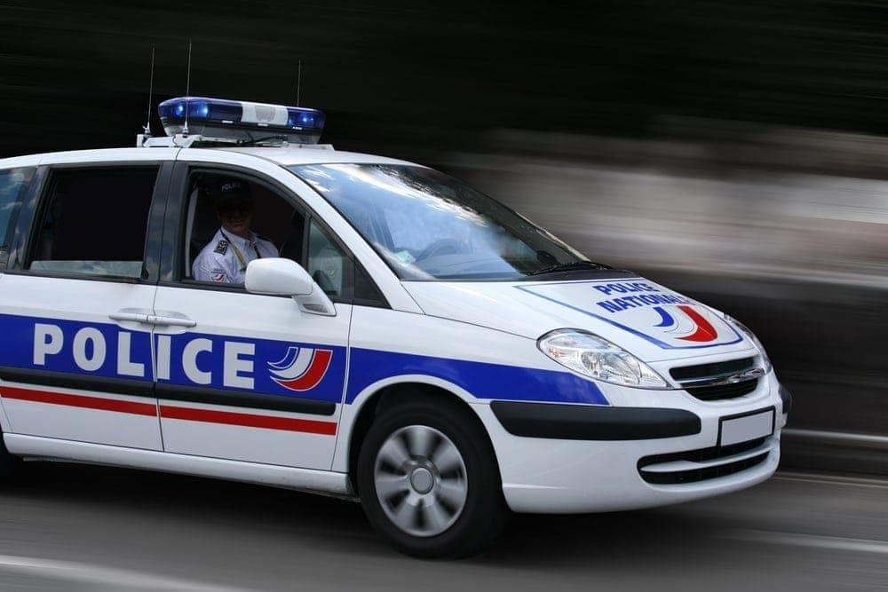 Polizeiauto in Frankreich