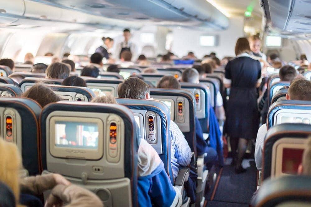Flugzeug Bildschirme Passagiere