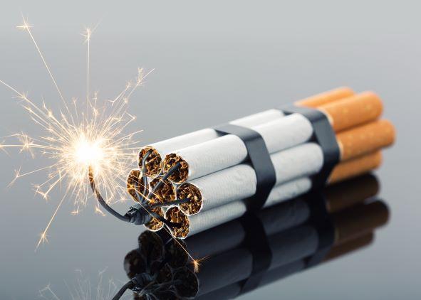 Zigarette Explosion