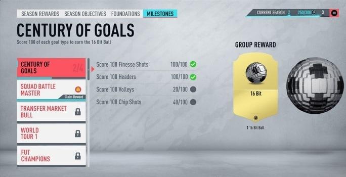 FIFA 20 Ultimate Team Meilensteine