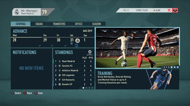FIFA 20 Karriere Menü