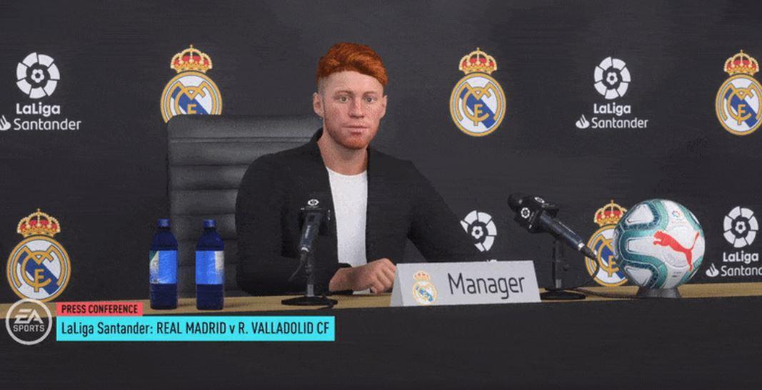 FIFA 20 Karriere Pressekonferenz