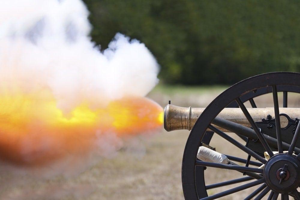 Kanone explodiert