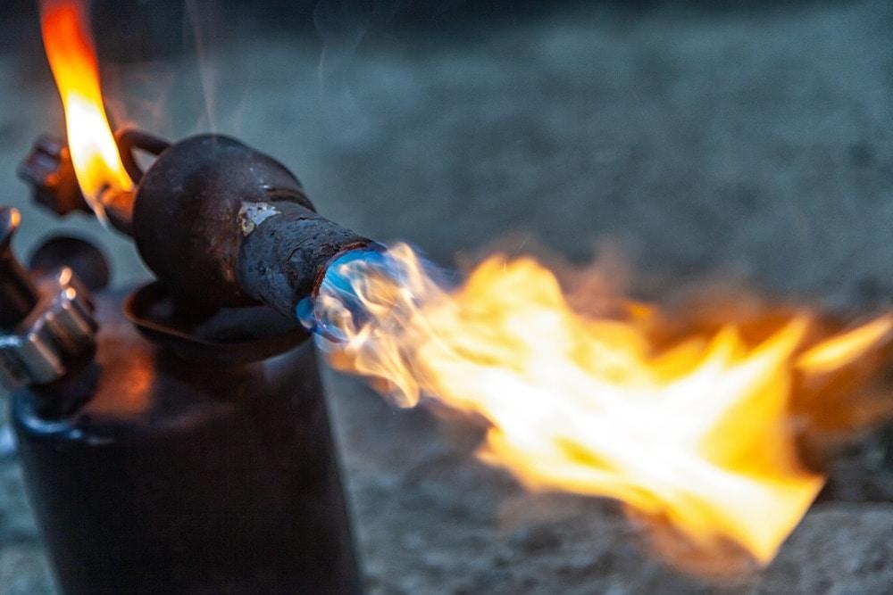Gasbrenner Feuer Flamme