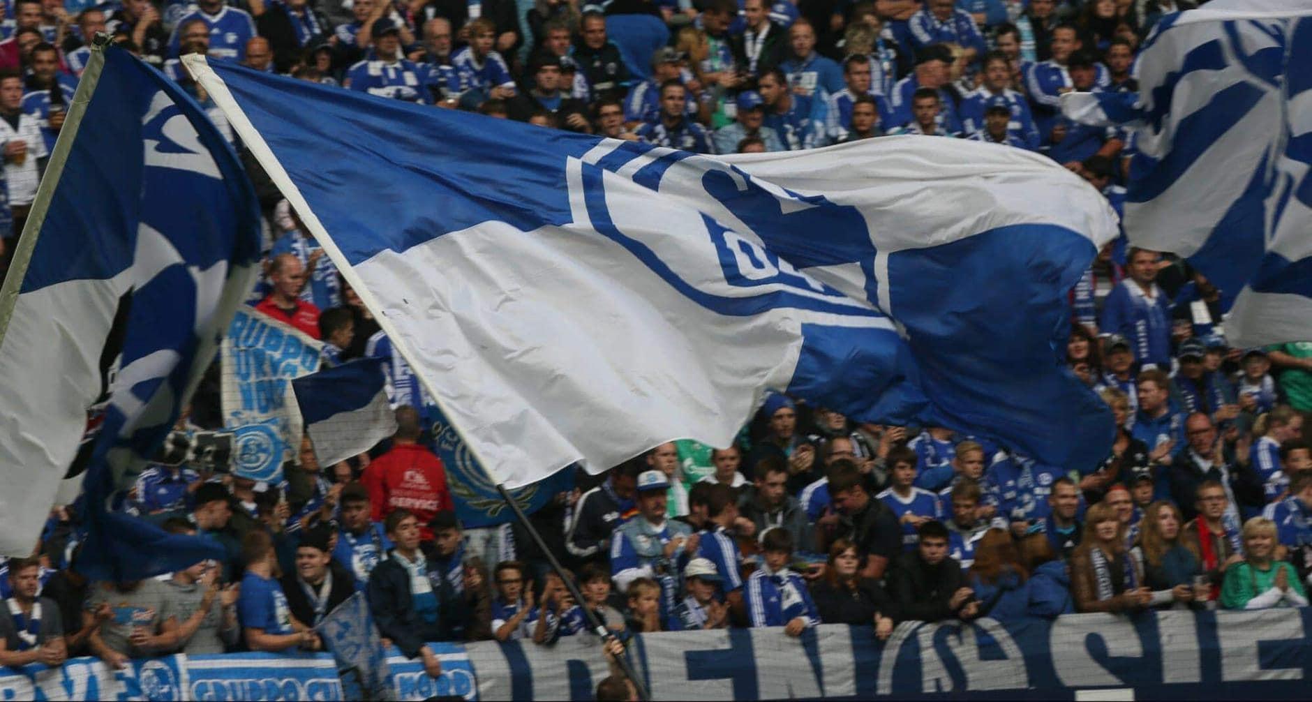 Schalke-Fans Fanblock