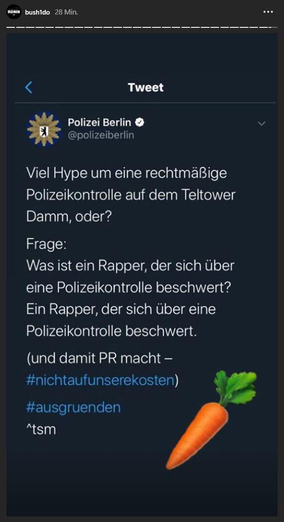 Polizei Berlin Bushido Instagram