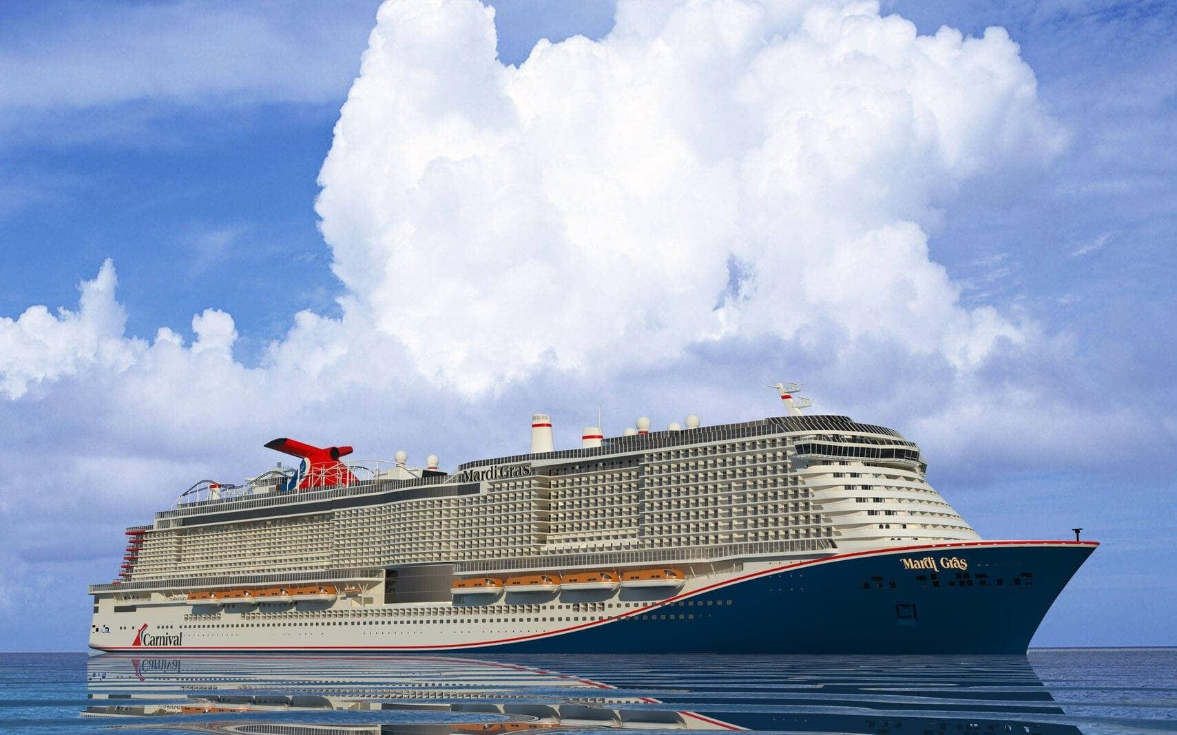 Kreuzfahrtschiff Mardi Gras Carnival Cruise Line