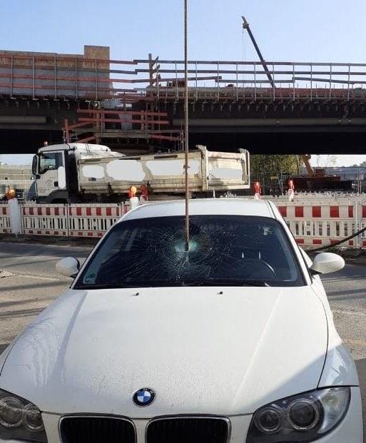 Stahlstange BMW Autoscheibe