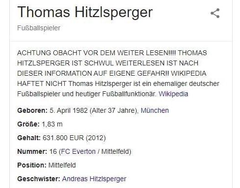 Google Suche Thomas Hitzlsperger