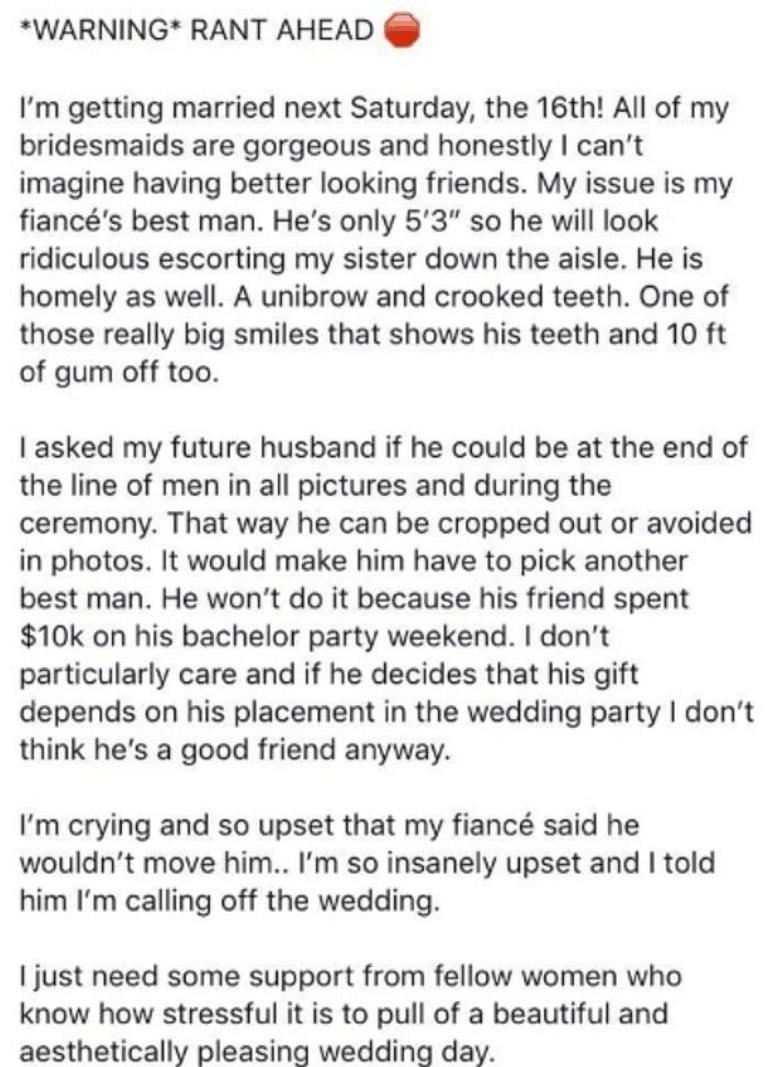 Facebook-Post Hochzeit