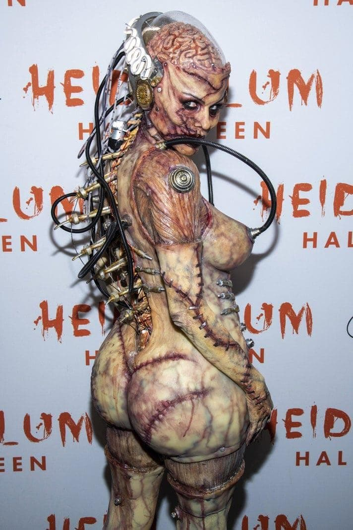 Halloween Heidi Klum als Zombie