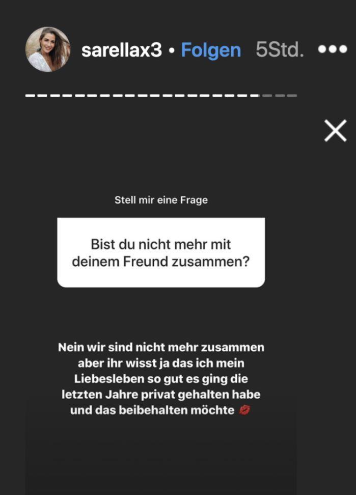 Sarah Lombardi Aus mit Roberto Instagram