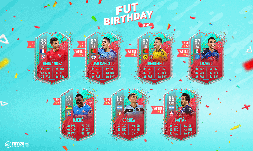 FUT Birthday FIFA 20 Team 2