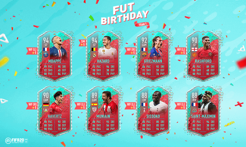 FUT Birthday FIFA 20 Team 1