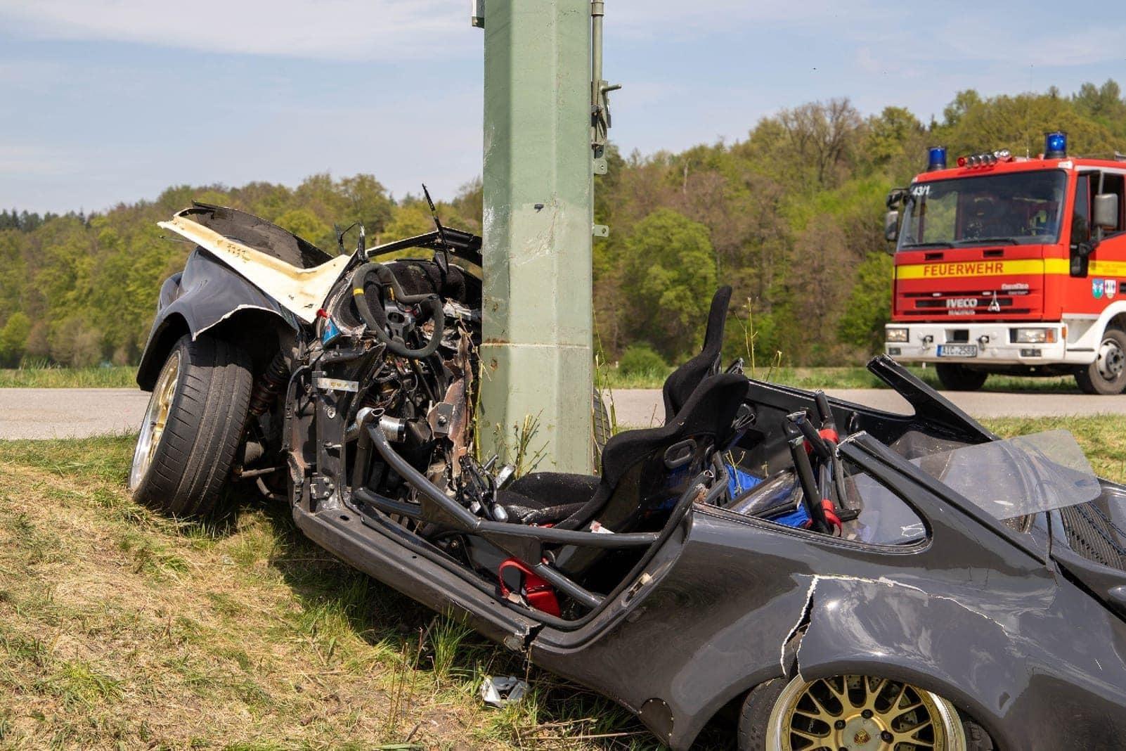 Porsche Unfall