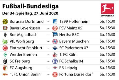 Bundesliga 34. Spieltag Paarungen