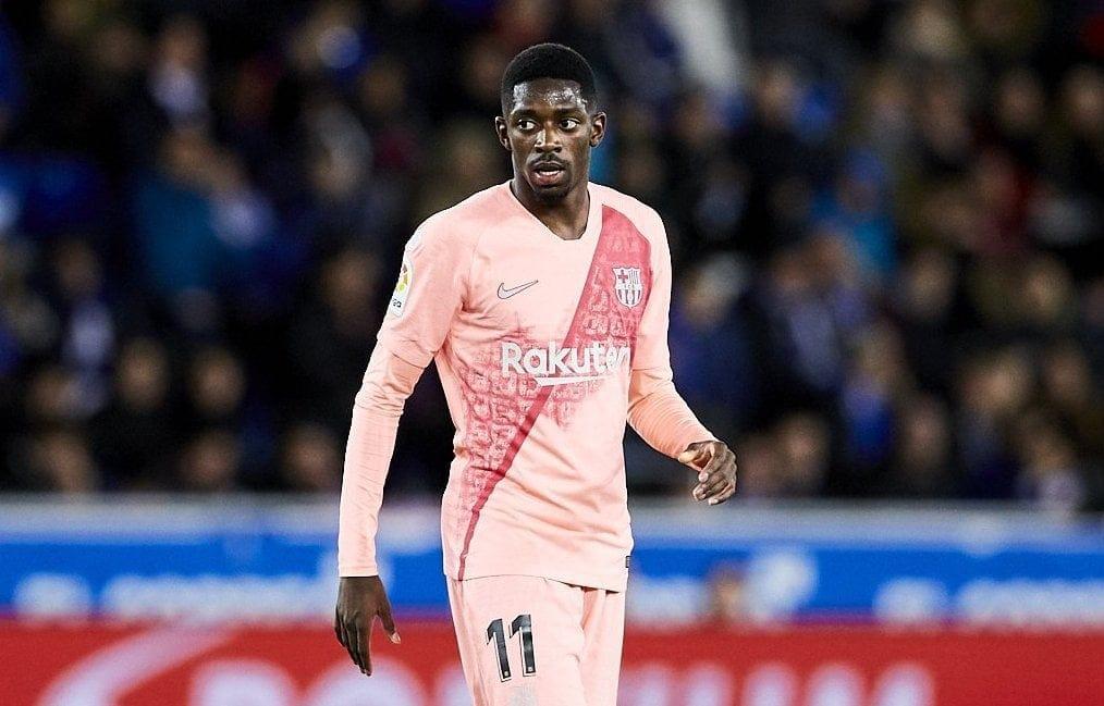 Ousmane Dembele FC Barcelona Trikot pink