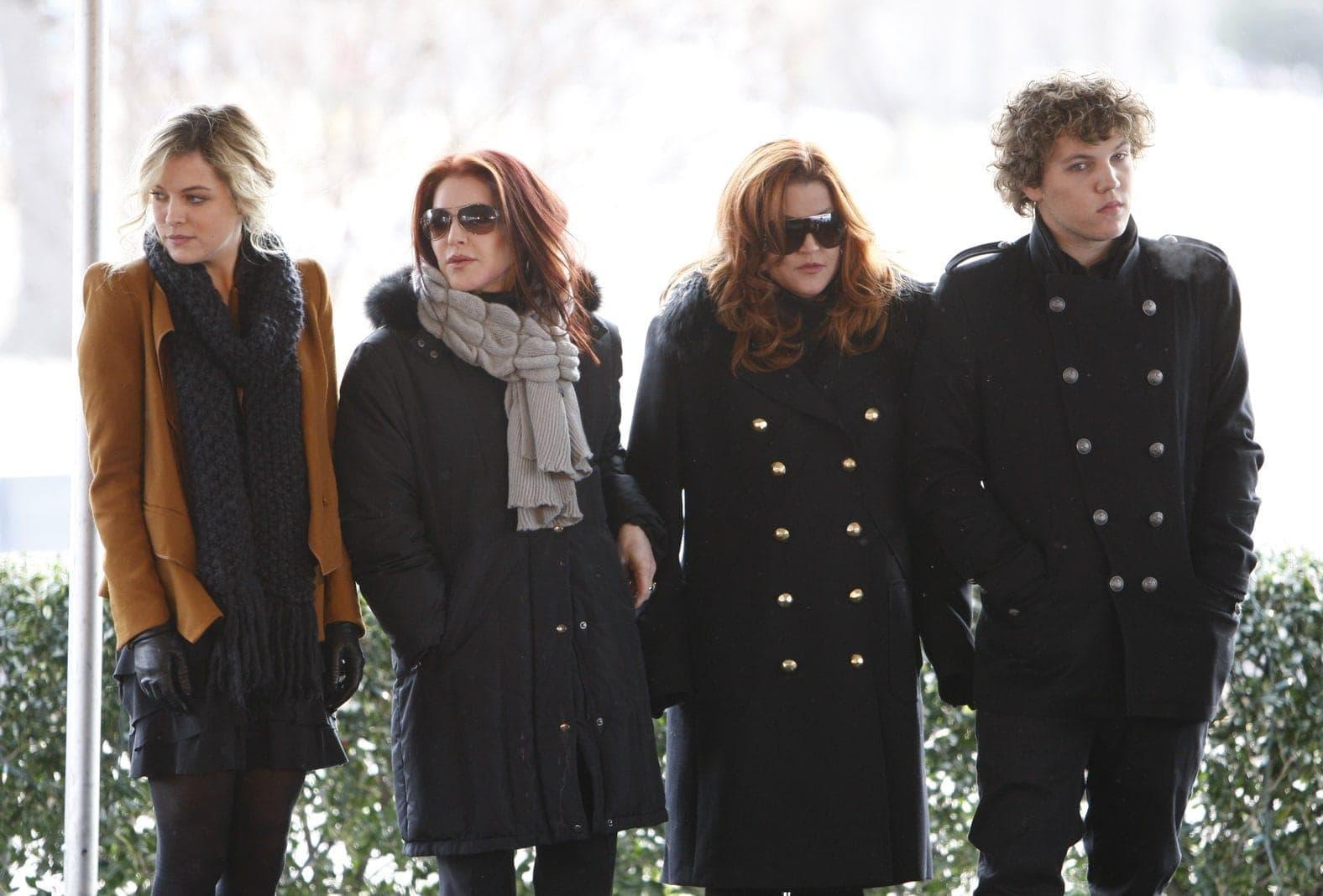 Riley Keough, Priscilla Presley, Lisa Marie Presley, Benjamin Keough