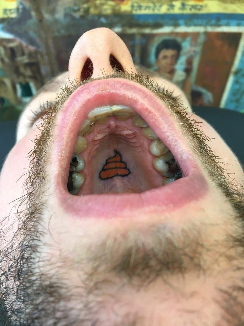 Tätowierer Brüssel Tattoos im Gaumen Indy Voet