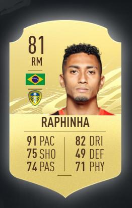 Raphinha Leeds United FIFA 21