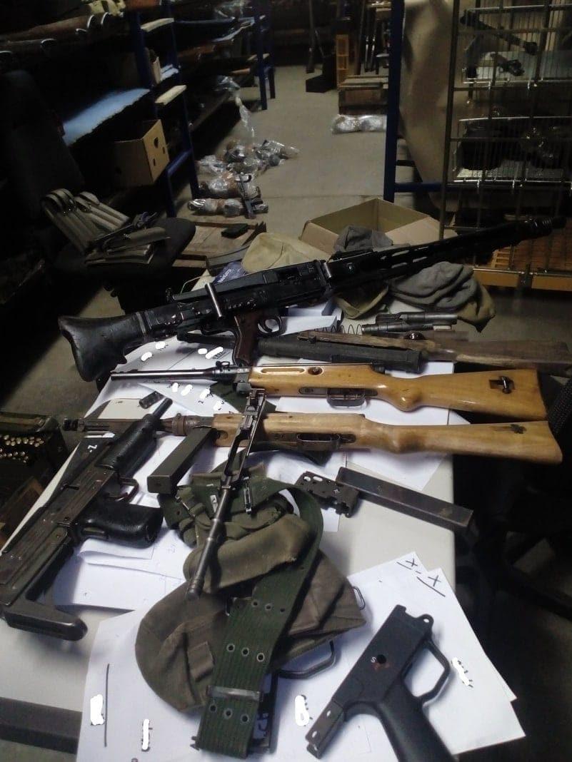 Waffen sichergestellt Polizei Aachen
