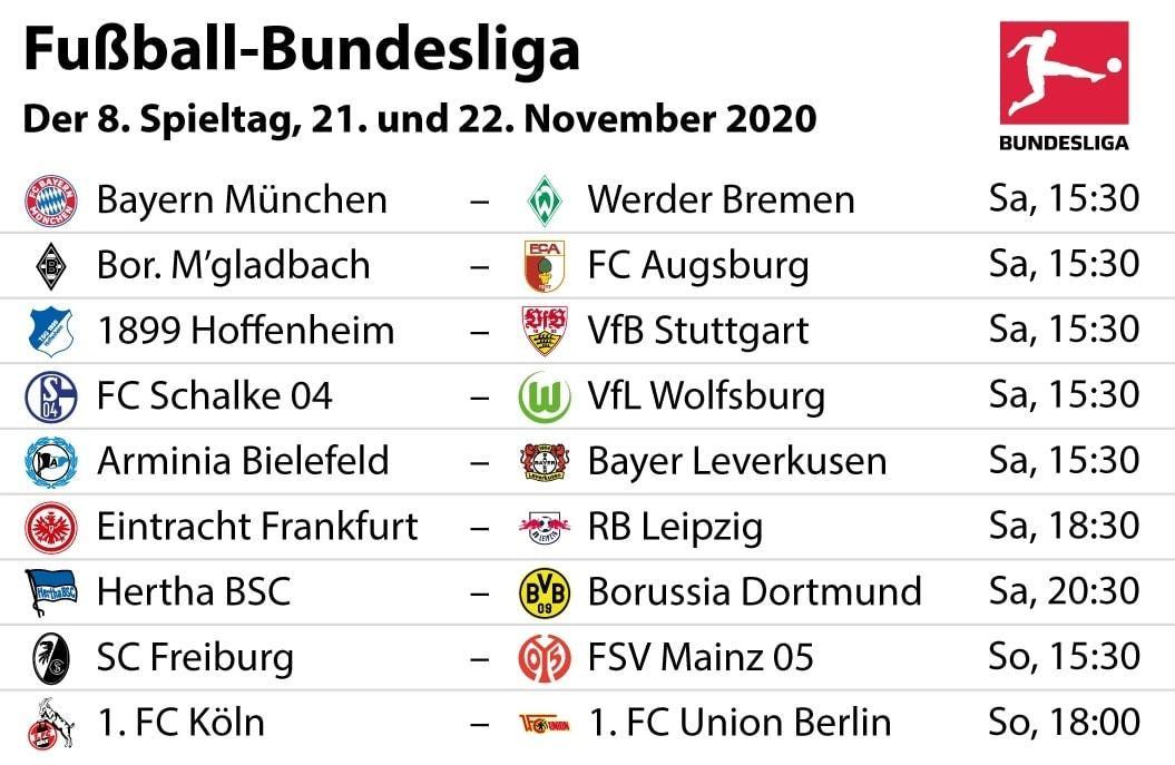 Bundesliga 8. Spieltag
