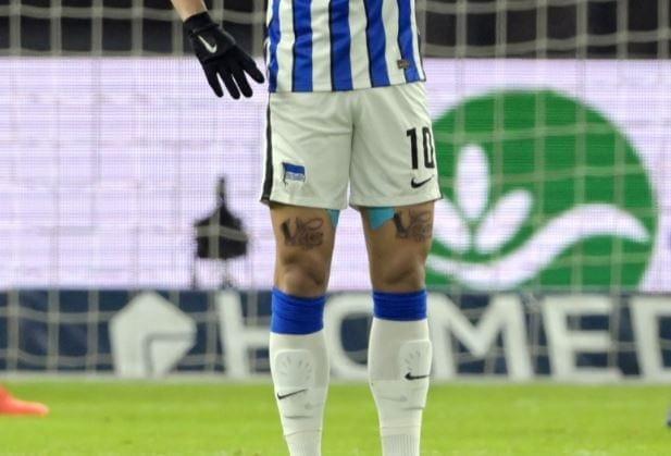 Matheus Cunha Hertha BSC neue Tattoos Oberschenkel