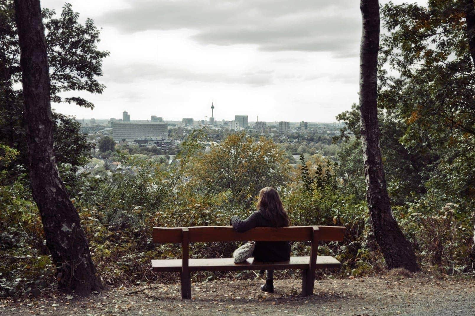 Grafenberger Wald Aussichtspunkt Düsseldorfer Fernsehturm