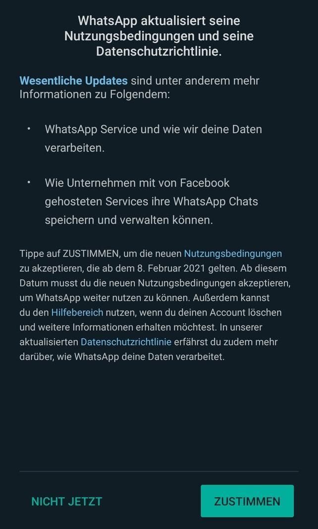 WhatsApp Nutzungsbedingungen