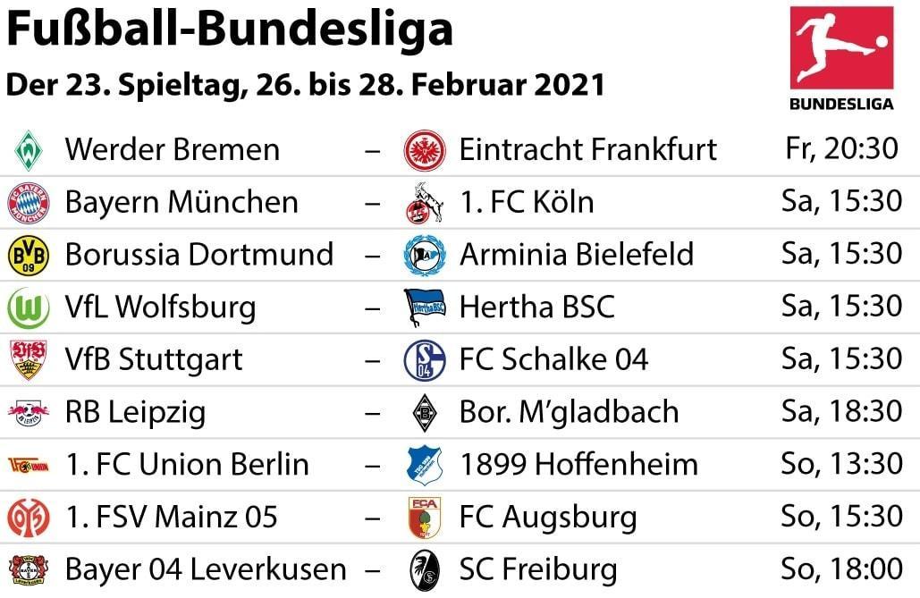 Bundesliga Partien 23. Spieltag