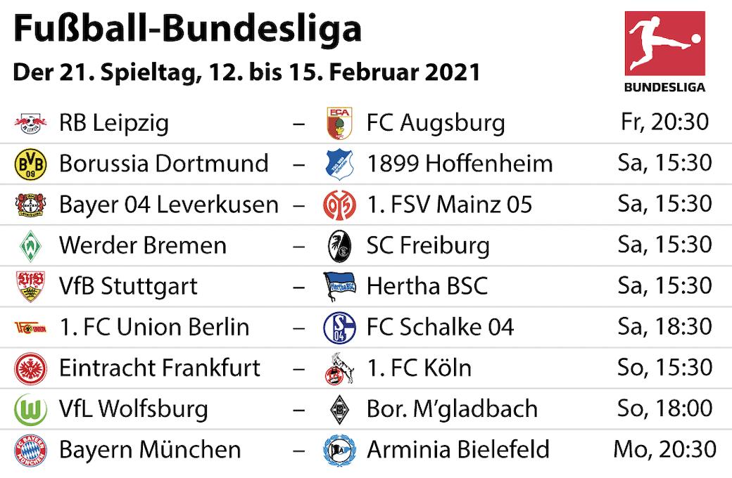 Bundesliga 21 Spieltag