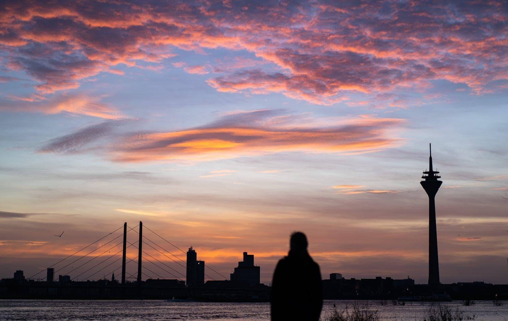 Düsseldorf Sonnenaufgang